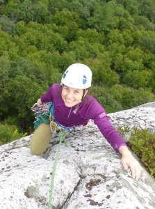 Emily climbing 2018